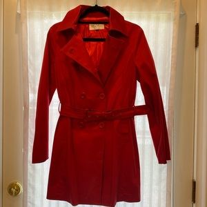 Max Mara Red Trench Coat size small